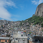 Rocinha's slum, biggest slum in Latin America with an estimated population of more than 200.000 people