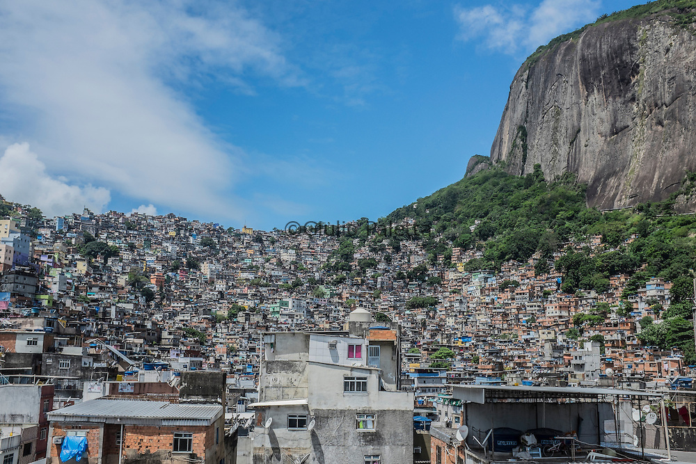 Rocinha's slum, biggest slum in Latin America with an estimated population of more than 200.000 people