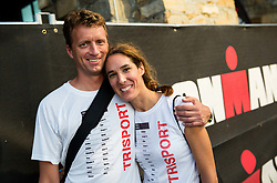 Primoz Drev and Natasa Nolde at I feel Slovenia Ironman 70.3 Slovenian Istra 2018, on September 23, 2018 in Koper / Capodistria, Slovenia. Photo by Vid Ponikvar / Sportida