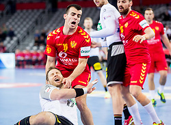 Milos Vujovic of Montenegro during handball match between National teams of Germany and Montenegro on Day 2 in Preliminary Round of Men's EHF EURO 2018, on January 13, 2018 in Arena Zagreb, Zagreb, Croatia. Photo by Ziga Zupan / Sportida