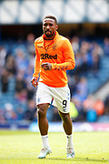 Jermain Defoe of Rangers F.C. warming up for the Ladbrokes Scottish Premiership match between Rangers and Celtic at Ibrox, Glasgow, Scotland on 1 September 2019.