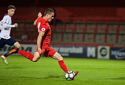 STEVENAGE, ENGLAND - Monday, September 19, 2016: Liverpool's Brooks Lennon scores the sixth goal against Tottenham Hotspur during the FA Premier League 2 Under-23 match at Broadhall. (Pic by Concepcion Valadez/Propaganda)