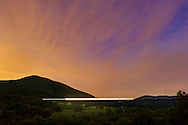 Salisbury Mills, New York -  Schunnemunk Mountain and Moodna Viaduct on the night of Sept. 24, 2014.