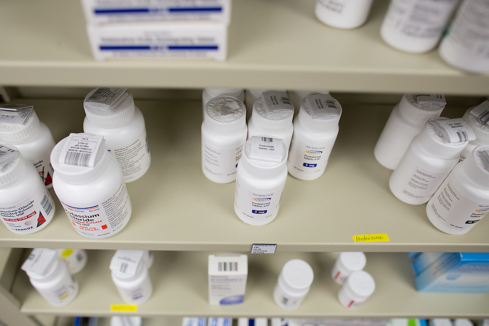 The oral cancer medications dispensed at The Patient Rx Center can cost more than $10,000 per bottle. The center is located at Hematology-Oncology Associates of Central New York in East Syracuse, New York on Monday, October 24, 2016. CREDIT: Mike Bradley for the Wall Street Journal<br /> CANCERPILLS