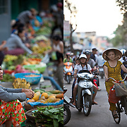 The main street market in Can Tho, Vietnam.