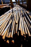 Close up of metal bars