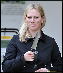 Zara Phillips cuts a John Deere cake at the Chelsea Flower Show, to help celebrate 50 years of producing the John Deere lawnmower. Monday, 20th May 2013.Picture by Andrew Parsons / i-Images<br /> File photo - Zara Phillips has given birth to a baby girl<br /> Zara Phillips has given birth to a baby girl at Gloucestershire Royal Hospital.<br /> Her husband and former England rugby player Mike Tindall was present at the birth.<br /> The weight of the baby was 7lbs 12oz, Buckingham Palace announced today.<br /> <br /> Picture filed Friday, 17th January 2014