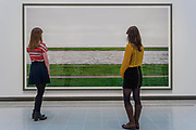 Rhine III - Andreas Gursky a new exhibiition. The Hayward Gallery reopens on the Southbank after a major refurbishment.