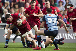 September 30, 2017 - Limerick, Ireland - Peter O'Mahony of Munster with the ball during the Guinness PRO14 Conference A Round 5 match between Munster Rugby and Cardiff Blues at Thomond Park in Limerick, Ireland on September 30, 2017  (Credit Image: © Andrew Surma/NurPhoto via ZUMA Press)