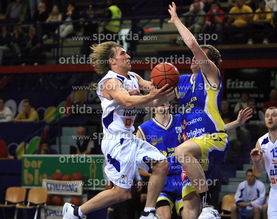 Aljaz Janza of Helios at UPC basketball league match between KK Helios Domzale and Hopsi Polzela, on April 7, 2009, in Domzale, Slovenia. Helios won 80:75. (Photo by Vid Ponikvar / Sportida)
