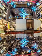 Christmas lights at Columbus Circle Shops