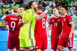 Georgi Zamtaradze of Russia celebrate during futsal match between Russia and Kazakhstan in Third place match of UEFA Futsal EURO 2018, on February 10, 2018 in Arena Stozice, Ljubljana, Slovenia. Photo by Ziga Zupan / Sportida