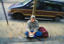 pan handler street beggar