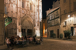 Diners at the gourmet restaurant L'Epicerie have a magnificent backdrop for their night out, the Church of St. Pierre.  Noted for its handsomely carved chestnut doors, baroque facade, and interior art, it dominates its quiet square, tucked away just a few hundred feet from the busy Place L'Horloge.