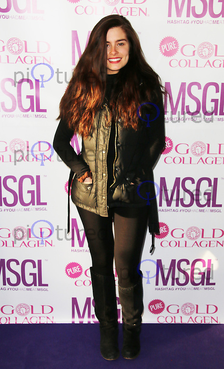Rachel Shenton, MediaSKIN Gifting Lounge, No1 Leicester Square, London UK, 20 January 2014, Photo by Richard Goldschmidt