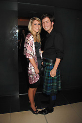 JAMES CLEMENTS and his sister CAITLIN CLEMENTS at 'Not Another Burns Night' in association with CLIC Sargebt and Children's Hospice Association Scotland held at ST.Martins Lane Hotel, London on 3rd March 2008.<br />