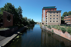 UK ENGLAND LEICESTER 30JUN15 - Urban housing development near the river Soar at Leicester city.<br /> <br /> jre/Photo by Jiri Rezac / WWF UK<br /> <br /> © Jiri Rezac 2015