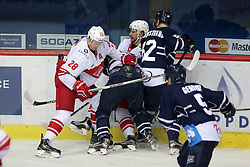 08.01.2015, Dom Sportova, Zagreb, CRO, KHL League, KHL Medvescak vs HC Spartak Moscow, 50. Runde, im Bild Dyblenko Yaroslav // during the Kontinental Hockey League, 50th Round match between KHL Medvescak and HC Spartak Moscow at the Dom Sportova in Zagreb, Croatia on 2015/01/08. EXPA Pictures © 2016, PhotoCredit: EXPA/ Pixsell/ Grgur Zucko<br /> <br /> *****ATTENTION - for AUT, SLO, SUI, SWE, ITA, FRA only*****