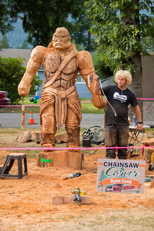 Canada, British Columbia,Hope,chainsaw art festival,