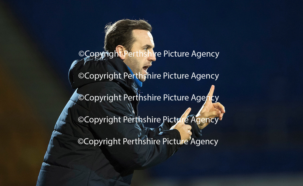 St Johnstone v MotherwellÖ17.12.16     McDiarmid Park    SPFL<br /> James McFadden gives instructions<br /> Picture by Graeme Hart.<br /> Copyright Perthshire Picture Agency<br /> Tel: 01738 623350  Mobile: 07990 594431