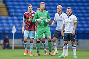 Ben Amos GK (Bolton Wanderers) waits for a corner to be sent in with Stephen Ward (Burnley) waiting by him during the Pre-Season Friendly match between Bolton Wanderers and Burnley at the Macron Stadium, Bolton, England on 26 July 2016. Photo by Mark P Doherty.