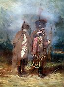 The Emperor Napoleon I during the French Campaign, 1814'.   Napoleon Bonaparte (1769-1821). Anonymous, 19th century. Oil on canvas.
