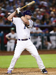 June 14, 2018 - Phoenix, AZ, U.S. - PHOENIX, AZ - JUNE 14: Arizona Diamondbacks first baseman Paul Goldschmidt (44) bats during the MLB baseball game between the Arizona Diamondbacks and the New York Mets on June 14, 2018 at Chase Field in Phoenix, AZ (Photo by Adam Bow/Icon Sportswire) (Credit Image: © Adam Bow/Icon SMI via ZUMA Press)