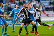 Notts County forward Jonathan Stead (30) ballers with Coventry City defender Tom Davies (12)  during the EFL Sky Bet League 2 match between Coventry City and Notts County at the Ricoh Arena, Coventry, England on 12 May 2018. Picture by Simon Davies.