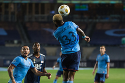 September 5, 2018 - Bronx, New York, United States - New York City defender SEBASTIEN IBEAGHA #33 heads the ball on goal during a regular season match at Yankee Stadium in Bronx, NY.  New England Revolution defeats New York City FC 1 to 0 (Credit Image: © Mark Smith/ZUMA Wire)