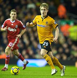 LIVERPOOL, ENGLAND - Saturday, December 26, 2009: Wolverhampton Wanderers' Kevin Doyle in action against Liverpool during the Premiership match at Anfield. (Photo by: David Rawcliffe/Propaganda)