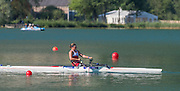 Aiguebelette, FRANCE. After the race an exhausted GBR ASW1X, Rachel MORRIS after winning the  Friday Para Rowing ASW1X Repechage at the 2014 FISA World Cup II, Friday Para Rowing ASW1X Repechage at the 2014 FISA World Cup II, , 18:21:22  Friday  20/06/2014. [Mandatory Credit; Peter Spurrier/Intersport-images]
