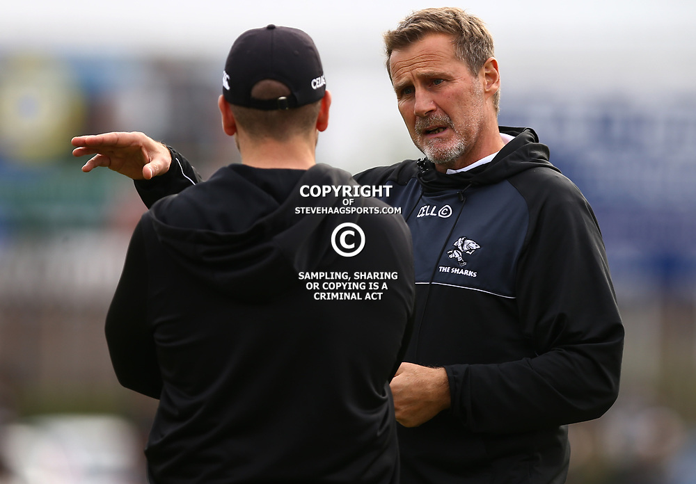 Robert du Preez (Head Coach) of the Cell C Sharks during The Cell C Sharks training session at Growthpoint Kings Park in Durban, South Africa. 21 August 2017(Photo by Steve Haag)<br /> <br /> images for social media must have consent from Steve Haag