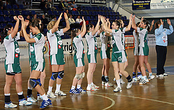 Players of Olimpija  at handball game ZRK Mercator Tenzor Ptuj vs RK Olimpija PLK in match for the third place of Slovenian Handball Cup,  on April 6, 2008 in Arena Golovec, Celje, Slovenia. Ptuj won the game 32:22 and placed third.  (Photo by Vid Ponikvar / Sportal Images)