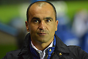 Everton's manager Roberto Martinez during the Capital One Cup match between Reading and Everton at the Madejski Stadium, Reading, England on 22 September 2015. Photo by Mark Davies.