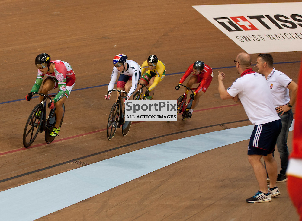 It was disappointment for Great Britain's Joe Truman as he fails to qualify for the final of the Men's Keirin in the UCI Track Cycling World Cup, Sir Chris Hoy Velodrome, Emirates Arena, Glasgow, Saturday 03 November 2016...(c) Angie Isac | SportPix.org.uk
