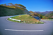 A long and winding road in northern Japan.