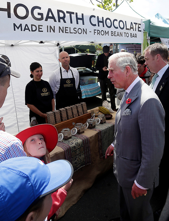 Prince Charles, Prince of Wales during his public walkabout in Nelson, New Zealand, Saturday, November 07, 2015. Credit:SNPA / Reuters, Anthony Phelps **POOL**