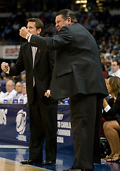 Georgia head coach Andy Landers.  The #1 seed North Carolina Tar Heels defeated the Georgia Bulldogs 80-66 in the second round of the 2008 NCAA Women's Basketball Championship at the Ted Constant Convocation Center in Norfolk, VA on March 25, 2008.