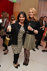 Left to right, ARLENE PHILLIPS and HELEN FOSPERO at a pre party for the English National Ballet's Christmas performance of The Nutcracker was held at the St.Martin's Lane Hotel, St.Martin's Lane, London on 12th December 2013.
