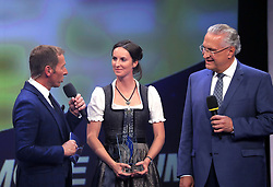 13.07.2019, BMW Welt, Muenchen, GER, Bayerischer Sportpreis Verleihung, im Bild Markus Othmer, Simone Blum, Joachim Herrmann // during the Bavarian Sports Award at the BMW Welt in Muenchen, Germany on 2019/07/13. EXPA Pictures © 2019, PhotoCredit: EXPA/ SM<br /> <br /> *****ATTENTION - OUT of GER*****