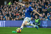 Seamus Coleman (Everton) passes the ball forward from Everton's right wing during the Premier League match between Everton and West Ham United at Goodison Park, Liverpool, England on 30 October 2016. Photo by Mark P Doherty.