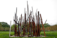 Middleheim Sculpture Park, Antwerp, Belgium - Big metal beam sculpture