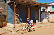 Bicycling in Quivican, Mayabeque, Cuba.