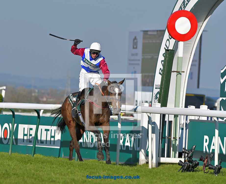 One For Arthur ridden by Derek Fox wins Randox Health Grand National on Grand National Day of the Grand National Festival at Aintree Racecourse, Aintree<br /> Picture by Martin Lynch/Focus Images Ltd 07501333150<br /> 08/04/2017