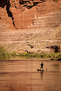 Paddle boarding the Colorado River in the Grand Canyon.