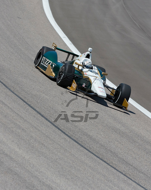 Ft WORTH, TX - JUN 08, 2012:  Ed Carpenter (20) prepares to qualify for the Firestone 550 race at the Texas Motor Speedway in Fort Worth, TX.