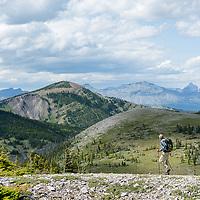 hiker on running owl mountain badger two medicine