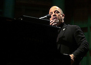 "FILE PHOTO--Grammy Award winning singer/songwriter Billy Joel answers a question from the audience, during a perfomance, Tuesday, Nov. 6, 2001, in Philadelphia.  Joel's record label announced June 19, 2002 that the singer has checked himself into a substance abuse and psychiatric hospital in Connecticut for treatment of a ""personal problem.""(Photo by William Thomas Cain/photodx.com)"