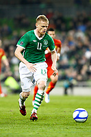 Football - UEFA Championship Qualifier - Republic of Ireland v FYR Macedonia<br /> Damien Duff (Rep of Ireland) in action in the UEFA Championship Group B Qualifier between the Republic of Ireland and FYR Macedonia at the Aviva Stadium in Dublin.