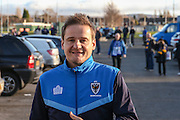 AFC Wimbledon manager Neal Ardley arriving at the ground during the The FA Cup match between Curzon Ashton and AFC Wimbledon at Tameside Stadium, Ashton Under Lyne, United Kingdom on 4 December 2016. Photo by Simon Davies.